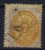 Danish West Indies : Mi 8 I Obl./Gestempelt/used  1875 - Denmark (West Indies)