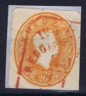 Austria: Kuvert Ausschnitte Der Ausgabe 1861 Als Freimarken Gebraucht - Gebraucht