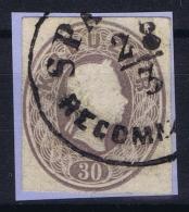 Austria: Kuvert Ausschnitte Der Ausgabe 1861 Als Freimarken Gebraucht - 1850-1918 Imperium