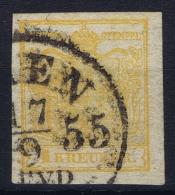Austria: Mi 1 Ib  Orange Obl./Gestempelt/used - 1850-1918 Imperium