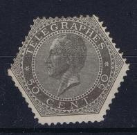 Belgium: Telegraphstamp 1866   OBP Nr  Tg 1b   MH/* Flz/ Charniere - Telegraphenmarken
