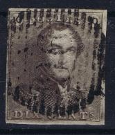 Belgium: OBP  3 A  Obl./Gestempelt/used  1849 Thick Paper - 1849 Epaulettes