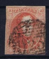 Belgium: OBP  12  Obl./Gestempelt/used  1858  No Wm - Belgium