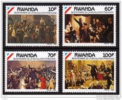 Rwanda**FRENCH REVOLUTION FRANCAISE 1789-Paintings-4vals-Cat 8,5€/9,5$-1989-ART-MNH-Congo - Rwanda