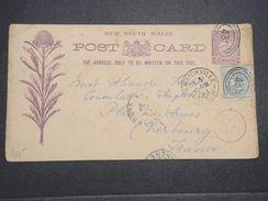 AUSTRALIE - Entier Postal + Complément De Marrickville En 1893 Pour Le Consulat Britannique à Cherbourg -  L 10485 - Briefe U. Dokumente