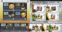 EUROPA Peru 2030/3,Block 32,Latvija 656/9C+Bl.21 ** 17€ Goldschmuck Stamps On Stamp Bloc Art Sheet Bf 50 Years CEPT - Emissions Communes