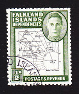 Falkland Islands Dependencies, Scott #1L1, Used, Map, Issued 1946 - Falkland
