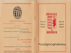 Programme Programma Feest Fête à Beringen Beeringen Limburg - Programma's