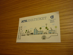 Greece Grece Greek Athens Transportation Ticket Used For Bus/tram/train/metro (normal Writting) - Transportation Tickets