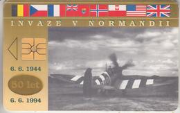 TCHÉQUIE - PHONE CARD    ***   MILITAIRE - INVAZE  V  NORMANDII    *** - Armee