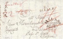 France Italia Dept Conquis Sézia Entier 107 BIELLE Biella Via MILANO LT St Gallen Dornbirn Vorarlberg 1817 (q12) - 1792-1815: Dipartimenti Conquistati