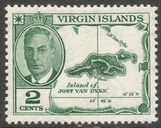 British Virgin Islands. 1952 KGVI. 2c MH. SG 137 - British Virgin Islands