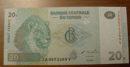 2003 - Congo - 20 FRANCS - 30.06.2003 - JA 0672289 V - Congo
