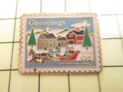 Pin1016c  Pin's Pins / Beau Et Rare /  POSTES : TIMBRE-POSTE USA 20 C LOVE Grand Pin's - Mail Services