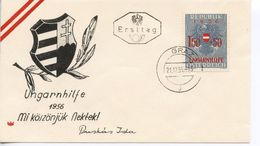 AUSTRIA -  1956 Help To Hungarian Refugees   FDC1435 - FDC