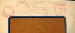 28706 Austria,red Meter/freistempel/ema/ Pottendorf Bei Wien 1940 Tierfutterfabrik Reinhold Kerber (fragment)pig.schwein - Marcofilia - EMA ( Maquina De Huellas A Franquear)