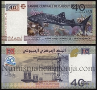 Djibouti 40 Francs 2017 Pick New SC UNC - Djibouti