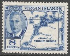British Virgin Islands. 1952 KGVI. 8c MH. SG 141 - British Virgin Islands