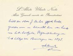 Carte De Monseigneur A Noots Chanoine Prémontré Tongerlo Beeringen Beringen 1898 - Manuscripts