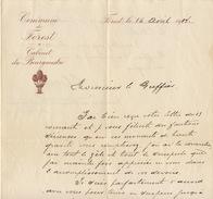 Commmune De Forest Cabinet Du Bourgmestre Greffe Du Tribunal 1914 - Documenten