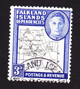 Falkland Islands Dependencies, Scott #1L4, Used, Map, Issued 1946 - Falkland Islands