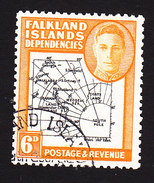 Falkland Islands Dependencies, Scott #1L6, Used, Map, Issued 1946 - Falkland Islands