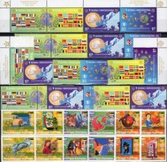 EUROPA Mocambique 2853/64,Bosna 419/2,2ER+5x ZD ** 108€ Stamps On Stamp Flags Se-tenants Bf 50 Years CEPT 1956-2006 - 2006