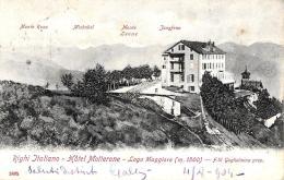 [DC9295] CPA - RIGHI ITALIANO - HOTEL MOTTERONE LAGO MAGGIORE (M.1500) F.LLI GUGLIELMINA - Viaggiata 1904 - Old Postcard - Hotels & Restaurants
