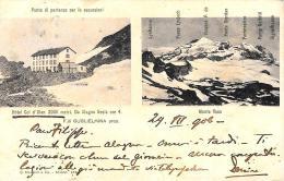 [DC9298] CPA - HOTEL COL D'OLEN 3000 METRI - MONTE ROSA - Viaggiata 1906 - Old Postcard - Hotels & Restaurants