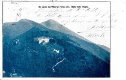 [DC9299] CPA - UN SALUTO DALL'ALBERGO PERTUS (MT.1285) VALLE IMAGNA - Viaggiata - Old Postcard - Hotels & Restaurants