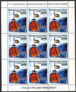 FRANCE 2003 - TENNIS DE TABLE - Feuillet De 9 Vignettes Championnats Du Monde Tennis De Table - Tischennis - Commemorative Labels