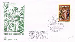 SAN MARINO  -  1986 The 25th Anniversary Of The Choir Association Of San Marino   FDC1447 - FDC