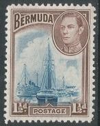 Bermuda. 1938-52 KGVI. 1½d MH. SG 111b - Bermuda