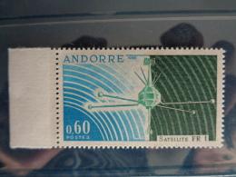"ANDORRE 1966 Y&T N° 177 ** - MISE EN ORBITE DU SATELLITE FRANCAIS "" FR1 "" - French Andorra"