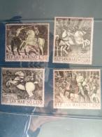 SAINT MARIN 1968 Y&T N° 721 à 724 ** - BATAILLE DE SAN ROMANO - San Marino