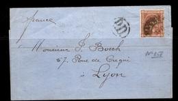 Espagne Belle Lettre De 1876 Affranchie Avec YT N° 158. B/TB. A Saisir! - 1875-1882 Königreich: Alphonse XII.
