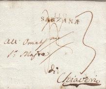 France Italia Dept Conquis Apennins Entier 110 SARZANA Pour Chiavari 1812 (q22) - Storia Postale