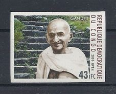 CONGO DEMOCRATIQUE 1712 - GANDHI NON DENTELE - Mahatma Gandhi