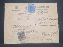 SERBIE - Enveloppe Du Commissaire Générale Des Réfugiés Russes Pour Paris En 1930 -  L 10519 - Serbie