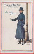 Women In War Time. Police Woman. Non Viaggiata. Originale No Copia - Guerra 1939-45