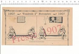 2 Scans Humour 1907 Jeu D'enfant Mauvais Tour Araignée Spider Animal Insecte Sieste ? Banc Public ?? 216PF7 - Alte Papiere