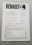 Renault R4 Export 1967 SCHEDA TECNICA Depliant Brochure Originale Auto - Genuine Car Brochure - Automobili