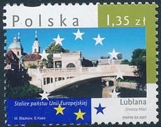 Mi 4335 ** MNH Capital Ljubljana Dragon Bridge & The Cathedral - Slovenia Slovenien Laibach Slovénie Eslovenia - 1944-.... Republic