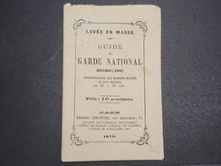 FRANCE - Guerre De 1870 , Guide Du Garde National Mobilisé -  L 10537 - Livres