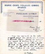 63- CHATEAUNEUF LES BAINS- RARE LETTRE MANUSCRITE SIGNEE PAILLASSE LEYRIT- BEURRE OEUFS-VOLAILLES GIBIERS- 1950 - Alimentaire