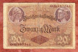 Darlehenskassenschein, 20 Mark, Berlin August 1914 (43986) - [ 2] 1871-1918 : German Empire