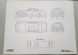 Alpine-Renault Berlinetta A110 1977 Scheda Tecnica Da Cartella Stampa - Genuine Press Photos - Automobili