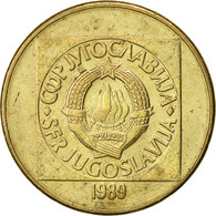 Yougoslavie, 100 Dinara, 1989, TTB+, Laiton, KM:134 - Joegoslavië