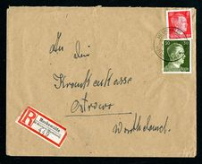DR Einschreiben Versicherung 1944 Meskewalde über Welungen Wartheland Nach Ostrowo L1138 - Deutschland