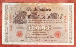 Reichsbanknote, 1000 Mark, Berlin April 1910 (43987) - [ 2] 1871-1918 : German Empire